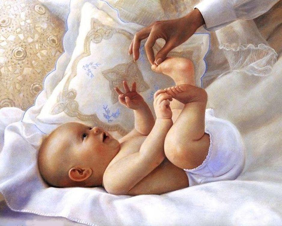 Купить Картина по номерам «Малыш», Paintboy (Premium), 40x50 см, VA-0928