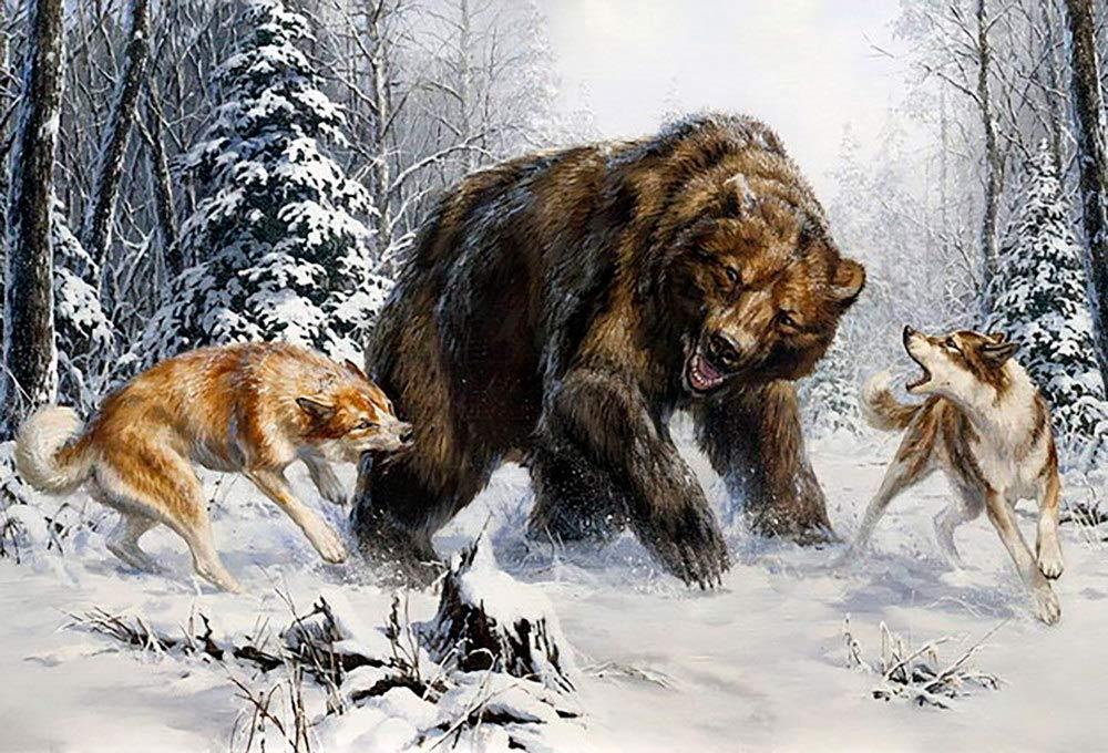 картинка охота на медведя с собаками ажурными листьями красивыми