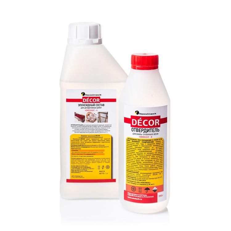 Купить Прозрачная эпоксидная смола EpoximaxX D?COR, 1, 35 кг, EMD1350
