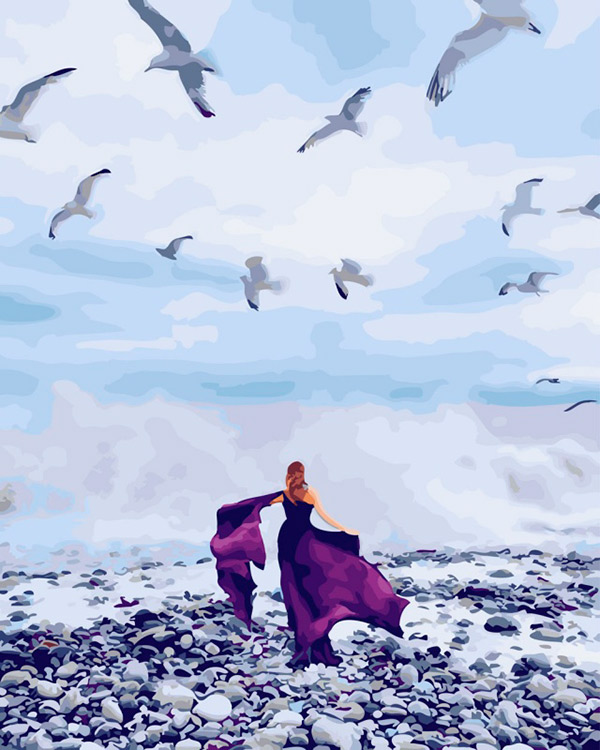 Купить Картина по номерам «Бурное море», Paintboy (Premium), Китай, GX26309