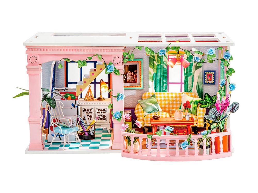 Купить Набор для создания миниатюры (румбокс) «Цветочная лоджия», Цветной, DGF01