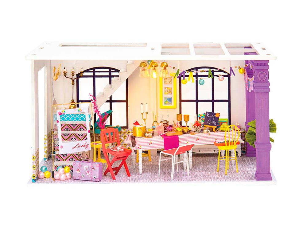 Купить Набор для создания миниатюры (румбокс) «Время для вечеринки», Цветной, 30x15x16, 5 см, DGF03
