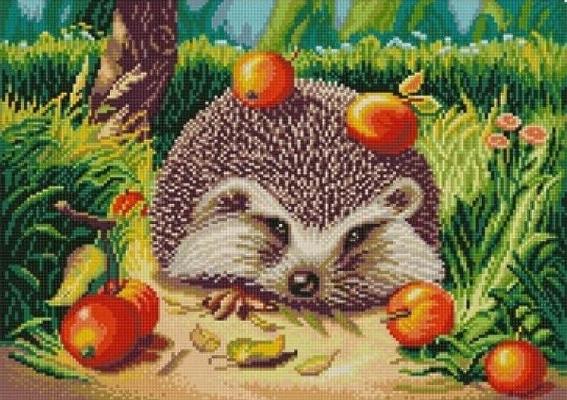 Купить Рисунок на ткани «Ежик», Конёк, 29x39 см, 1313