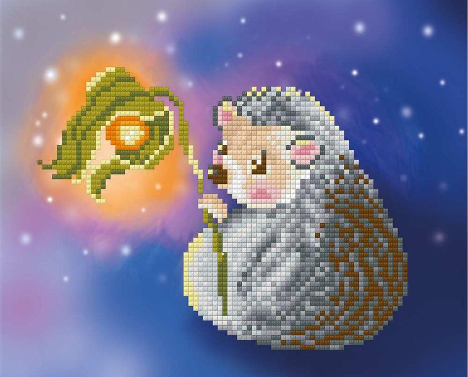 Купить Алмазная вышивка «Ежик с фонариком», Фрея, 22x18 см, ALVR-088