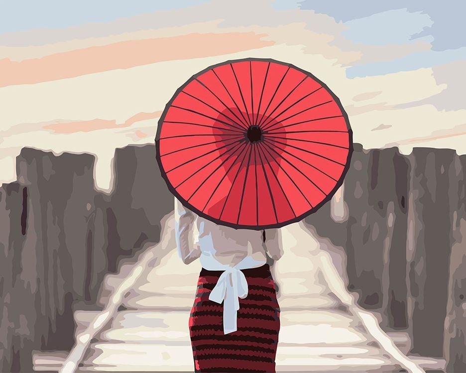 Купить Картина по номерам «Японский зонтик», Фрея, PNB/C1 №36