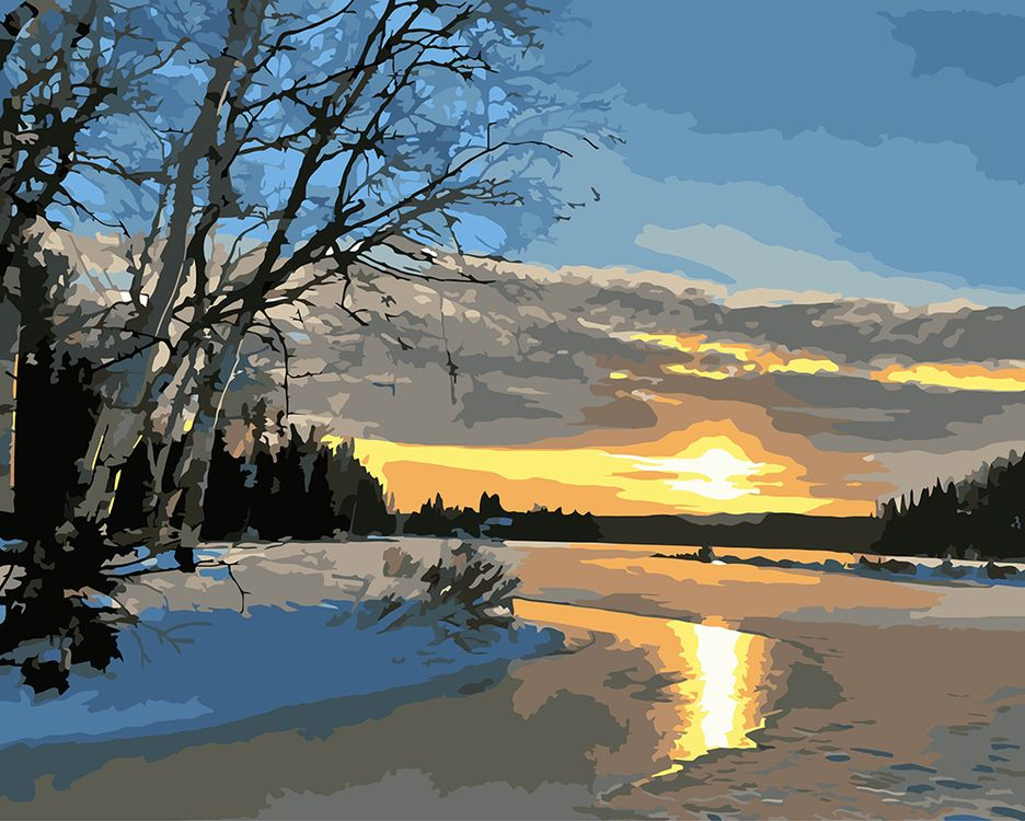 Купить Картина по номерам «Морозное утро», Фрея, PNB/C1 №35