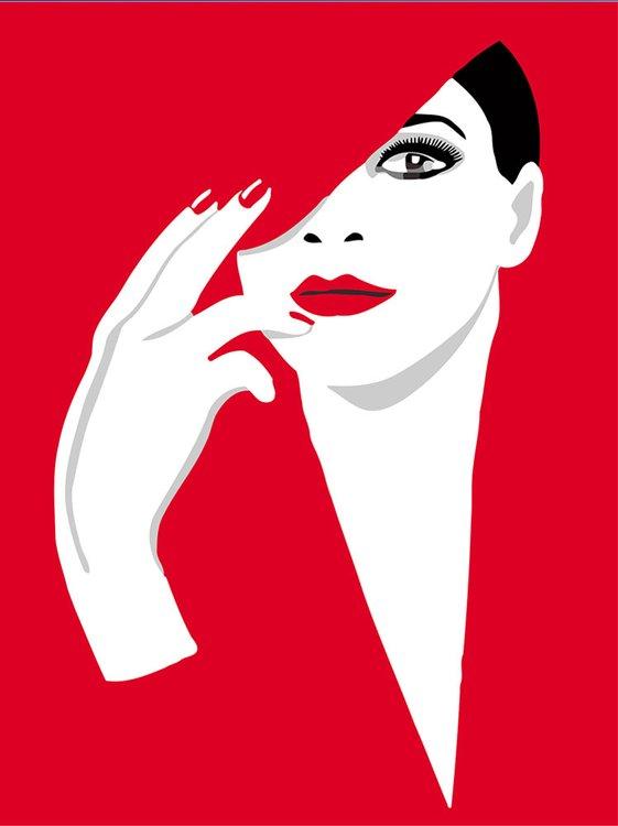 Купить Картина по номерам «Девушка в красном», Фрея, PNB/R2 №43