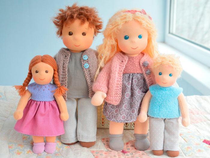 На фото изображено - Необычное увлечение: шитье кукол, рис. Вальдорфские куклы