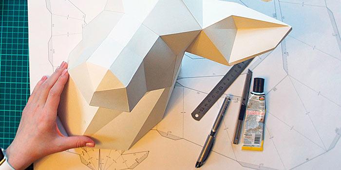 На фото изображено - Модели из бумаги, рис. Процесс моделирования