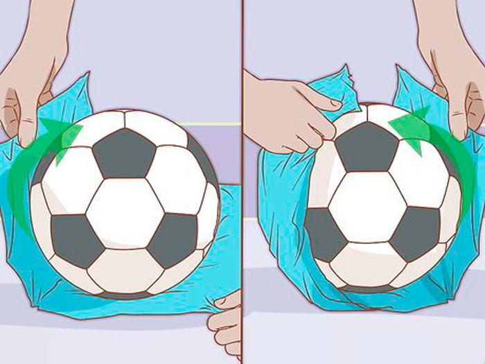 На фото изображено - Как упаковать подарок, рис. Упаковка мяча