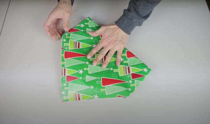 На фото изображено - Как упаковать подарок, рис. Японская упаковка