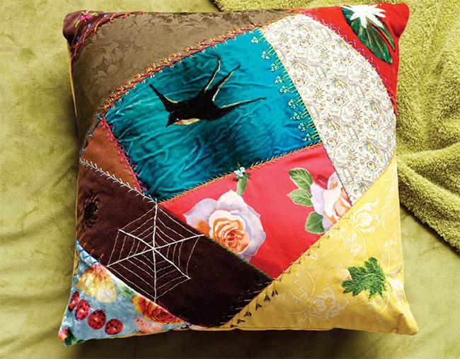 На фото изображено - Лоскутное шитье для начинающих, рис. Сrazy пэчворк
