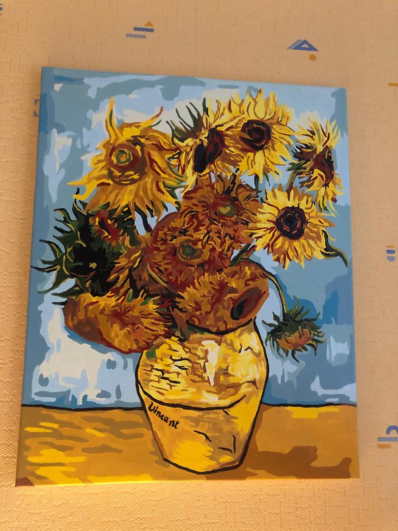 Картина по номерам «Подсолнухи» Ван Гога KH0107 Molly ...