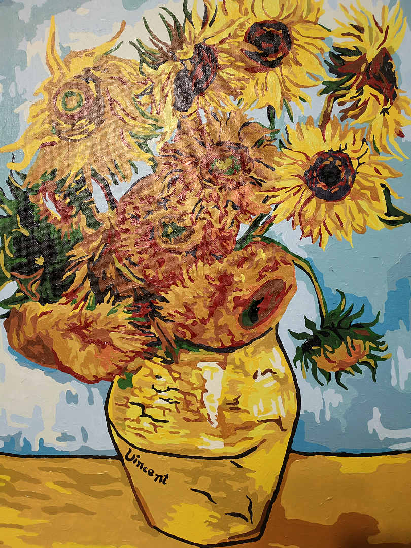 Картина по номерам «Подсолнухи» Ван Гога KRYM-FL10 ...